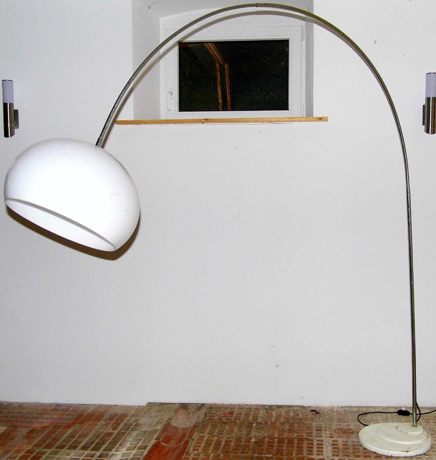 Original Retro Vintage 70er Bogenlampe Bogenleuchte