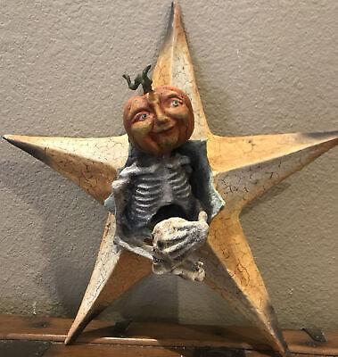 Bethany Lowe Vergie Lightfoot Halloween Pumpkin Head in Star—Retired 2015