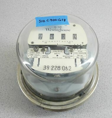 General Electric Watthour Meter Kwh 720x1g6 200a 240v Cl200 4 Lug Glass Dome