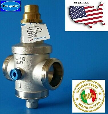 Water Pressure Reducing Valve 1 Npt Threaded Double Union Made In Italy