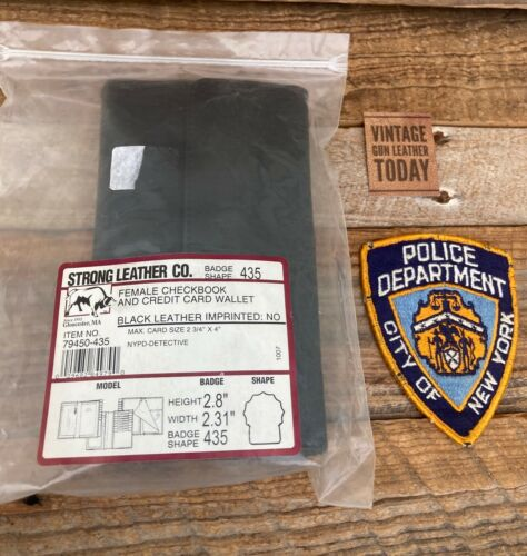 Strong Leather Female Checkbook Credit Card Police Wallet NYPD Detective Shield