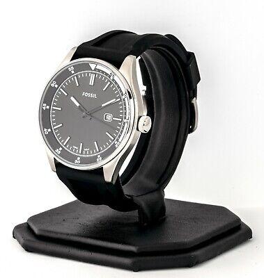 Mens's Fossil Watch, Belmar  Black Silicone Watch FS5535, New