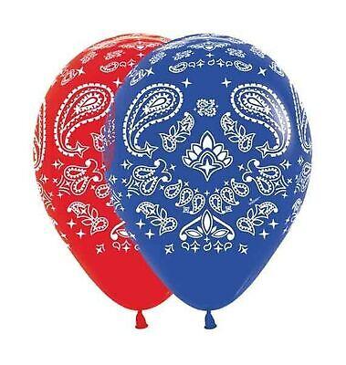 Bandana Western Print Balloons Latex Party Hoedown Decorations - Western Balloons