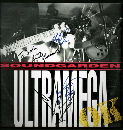 Soundgarden Ultramega OK Signed Chris Cornell, Hiro, Kim and Matt VINYL Record