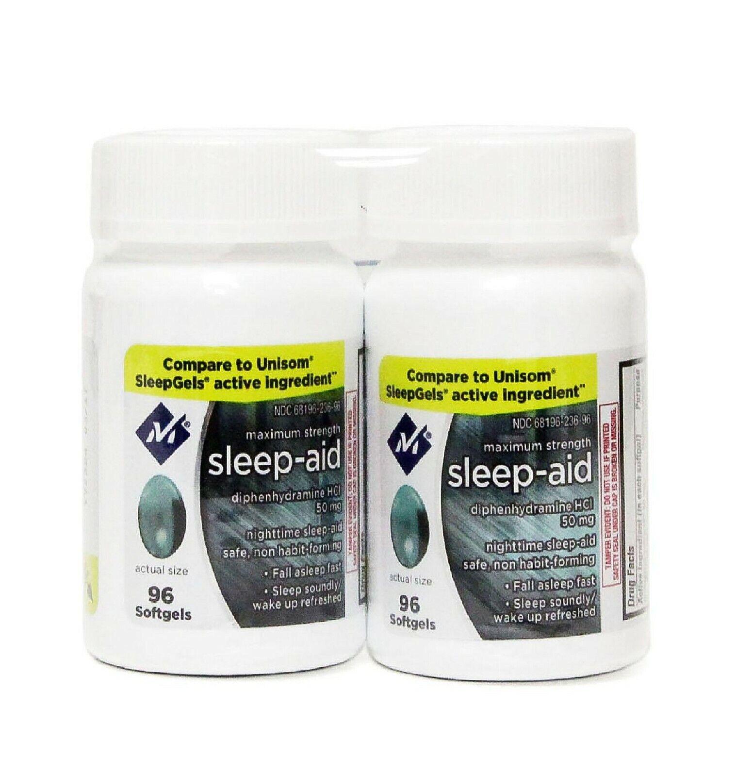 Sleep Aid Sleeping Pills Members Mark Diphenhydramine 50 mg