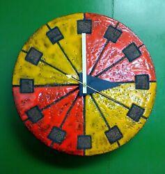 Howard Miller Bitossi & George Nelson Meridian Ceramic Clock Raymor Italy 1974