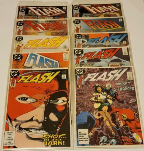 Flash  (2nd Series)  # 30,31,32,33,34,35,36,37,38,39   (DC 1990)    Very Fine