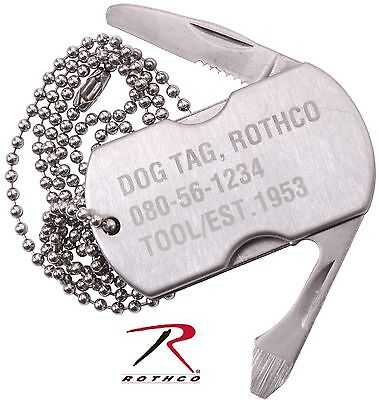 Tag Tool (Rothco Dog Tag Multi-Tool w/ Knife, Bottle Opener, Screwdriver & File Necklace)