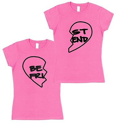 Best Friend Set of 2 Matching T-Shirts Valentine's Day Present For Her (Best Valentines For Her)