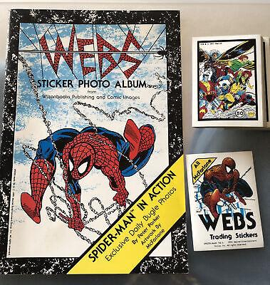 SPIDER-man Webs Comic Images Sticker Set & Album All McFarlane Rare