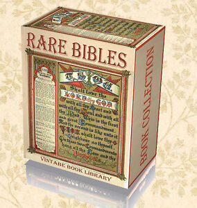 55 Rare Antique Bible on DVDs - Old New Testament Christian Manuscripts Douay 53
