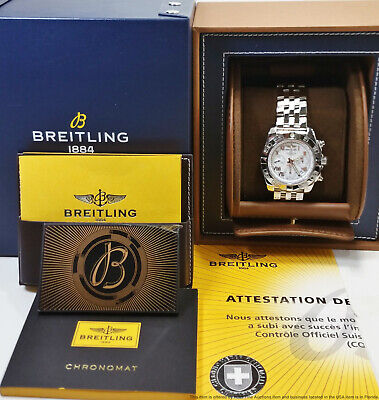 New Breitling Chronomat Chronograph 41 AB014012/A747 Mens Watch Box Papers