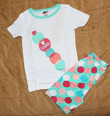 NWT Crazy 8 by Gymboree 2pc Gymmies Pajamas PJ's Sz: 5 Ice Cream dots Summer - Crazy 8 Pajamas