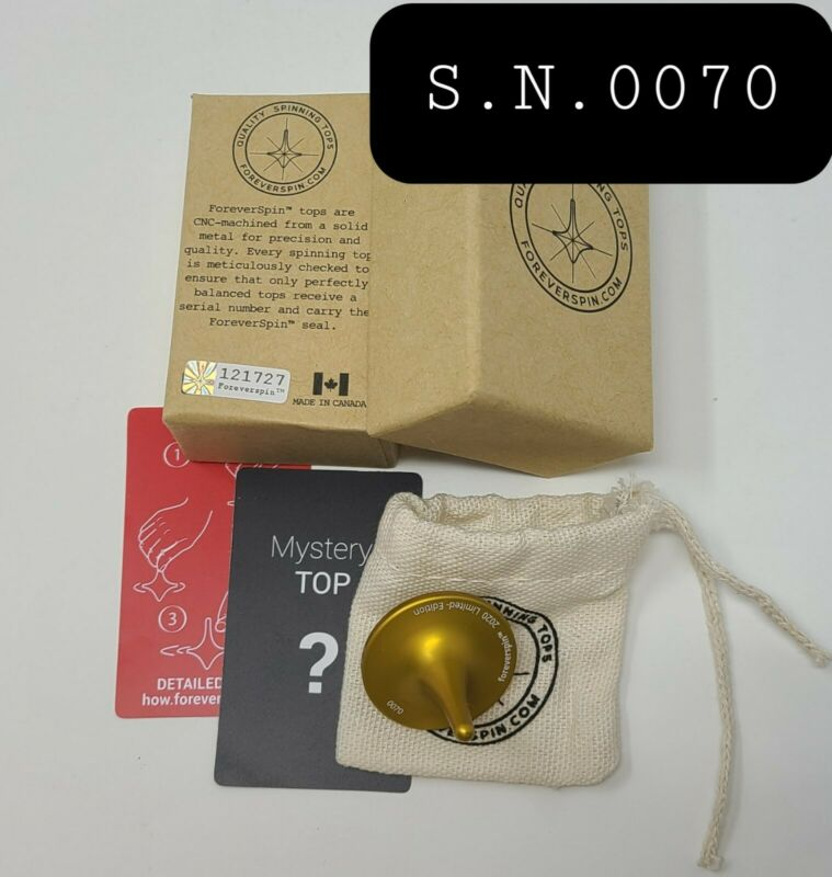 Foreverspin Spinning Mystery Top - Inca Gold Color Serial #0070 Limited-Edition