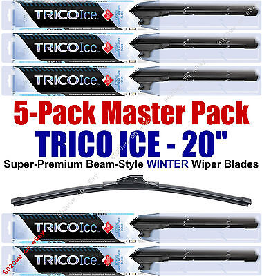 "5 Pack 20"" WINTER Wiper Blades Super-Premium Beam-Style Trico ICE 35-200 (x5)"