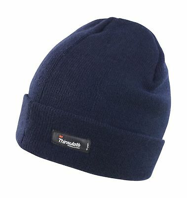RC133X Navy Result Winter Thermal Lightweight Thinsulate Hat Warm Woolly Beanie