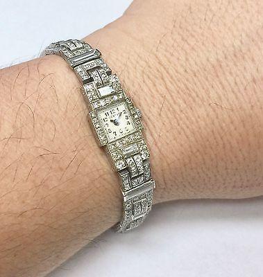 Vintage Antique 12 Carat Diamond and Platinum Cocktail Watch