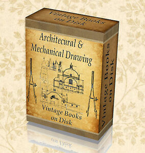 230 Vintage Books Architectural Mechanical Technical Drawing Design Old Art 273