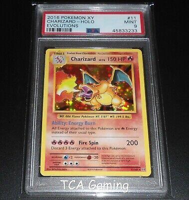 PSA 9 MINT Charizard 11/108 XY Evolutions HOLO RARE Pokemon Card