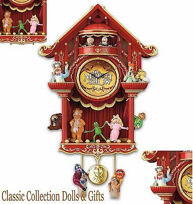 "BRADFORD EXCHANGE ""THE MUPPET SHOW"" DISNEY WALL CLOCK -MUSIC & LIGHTS !-NEW"