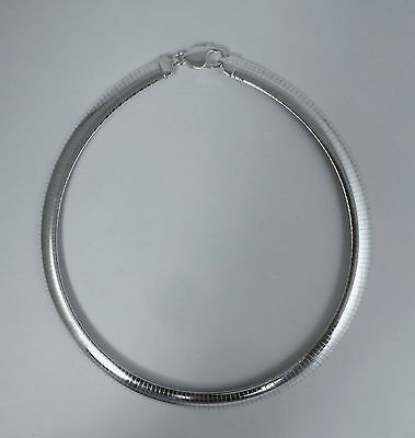 Omega Necklace 16,18,20 inch, 4mm,6mm,8mm,10mm 925 Italian Sterling Silver - 8mm Omega Necklace Chain