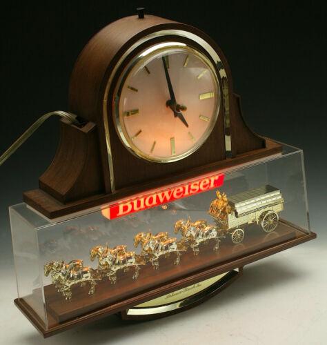 VINTAGE BUDWEISER ANHEUSER BUSCH CLYDESDALE SIGN BEER SIGN CLOCK **BEAUTY**!!!