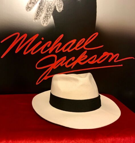 MICHAEL JACKSON OWNED WORN WHITE FEDORA HAT LIVE CONCERT AUTHENTIC ORIGINAL RARE