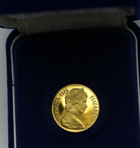 1975 Bermuda 100 Dollars Gold 900 fine 7.03 grams in Box Franklin Mint