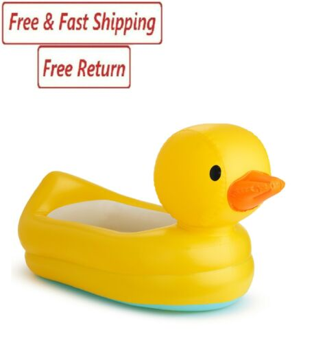 Munchkin White Hot Inflatable Duck Safety Baby Bath Tub