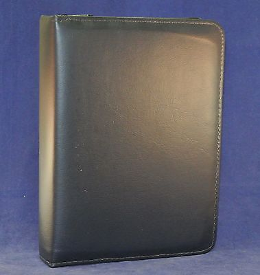 1.6 Rings Navy Blue Classic Vinyl Day Planner Binder -fits Franklin Covey Acc