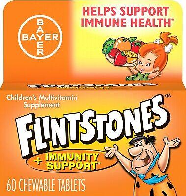 Flintstones Chewable Kids Multivitamin Immunity Support ZINC 83% 60 Tabs Immune 60 Tabs