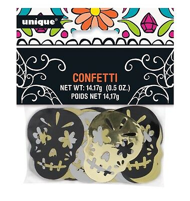 DAY OF THE  DEAD Skull CONFETTI Party Supplies Decoration Halloween Birthday  (Day Of The Dead Supplies)