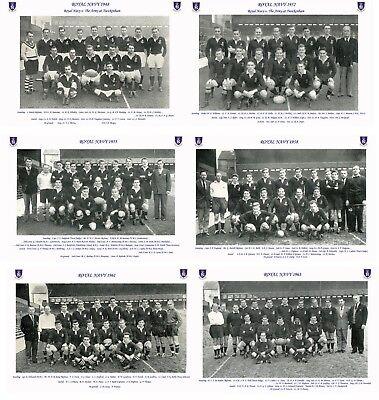 "14 ROYAL NAVY RUGBY TEAMS 1948 - 1963 PHOTOGRAPH BUNDLE 6"" X 4"" (15 x 10cm)"