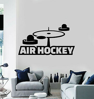 Vinyl Wall Decal Air Hockey Leisure Hobbies Sport Entertainment Stickers (g494)