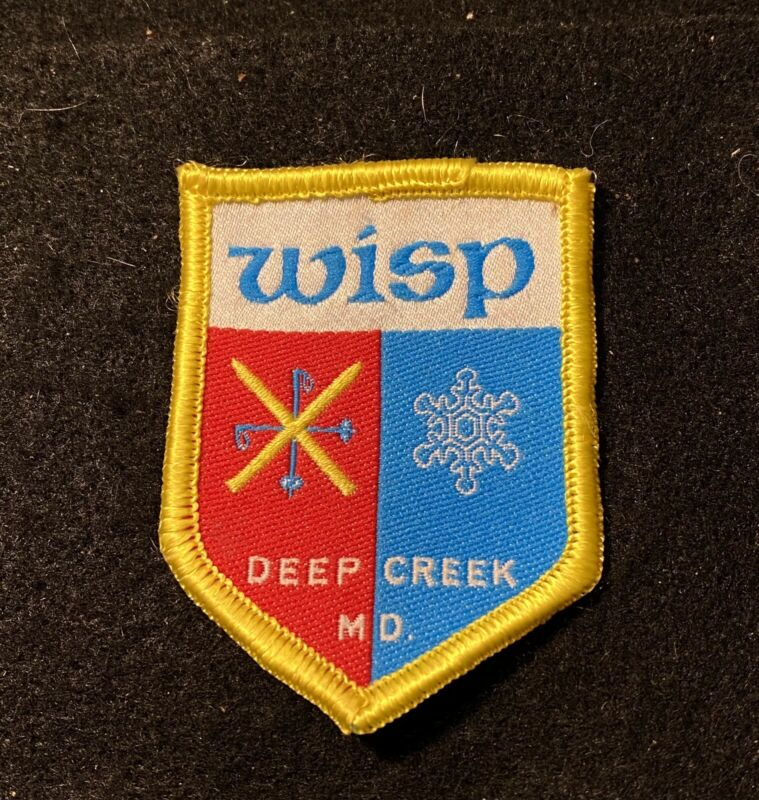 WISP NOS Skiing Ski Patch Badge Deep Creek MARYLAND Resort Souvenir Travel Lapel