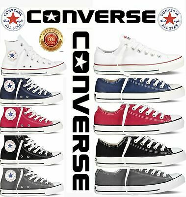 Converse Women Men Unisex All Star Hi & LO Top Chuck Taylor Trainers all Colors