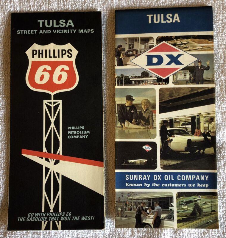 2 Vintage City Maps Of Tulsa Oklahoma