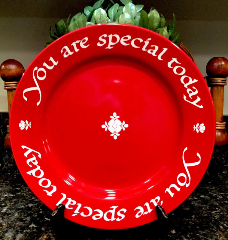 Waechtersbach  YOU ARE SPECIAL TODAY  Original Red Plate Co 1979 ~ PRISTINE!