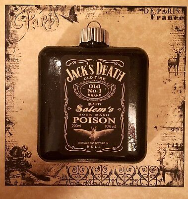 Jack Daniels Inspired Halloween Ornament Witch Party Decoration Salem's Poison - Salem Halloween Party