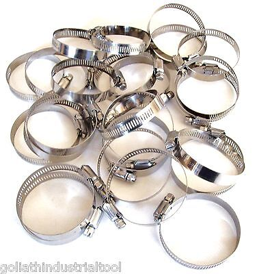 """25 GOLIATH INDUSTRIAL STAINLESS STEEL HOSE CLAMPS 2"""" - 2-3/4"""" SSHC234 51-70MM"""