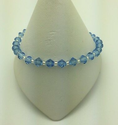 Light Blue Stretch Anklet Ankle Bracelet - 10""