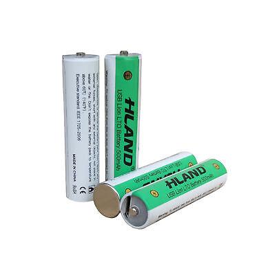 4 Stk USB Wiederaufladbar AAA Batterie 500mAh Lithium Akku