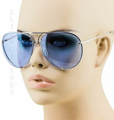 Poshe Aviator Sunglasses Vintage Lens Men Women Fashion Frame Retro Ocean (Ocean Blue Sunglasses)