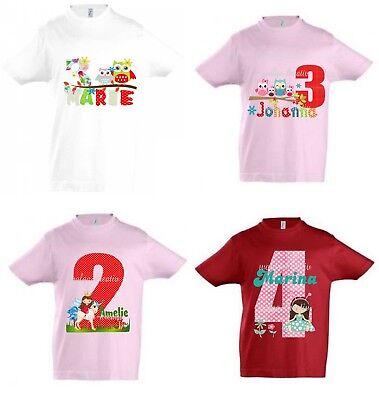 Mädchen Shirt Geburtstag (T-Shirt Geburtstag Mädchen Geburtstagsshirt personalisiert Zahl viele Motive)