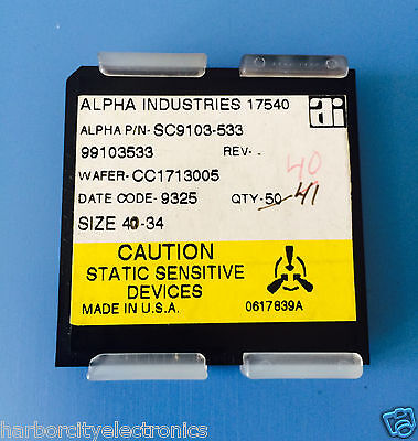 Sc9103-533 Alpha Industries Capacitor Chip Rf Microwave Product 40units Total