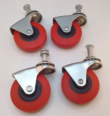 Heavy-duty 2.5 Low Profile Swivel Caster Wheels Creeper Cart Wheels - Set Of 4