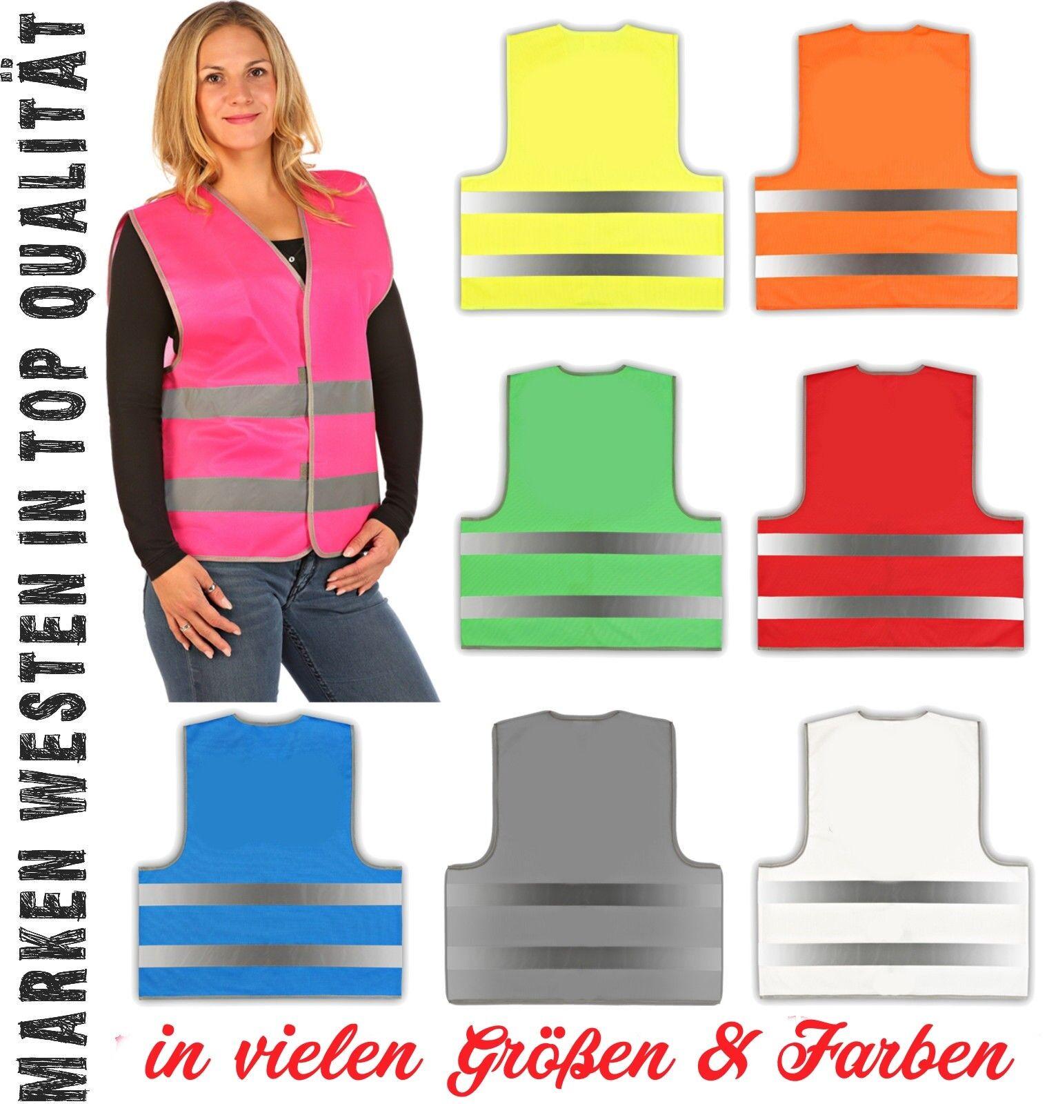 easyMesh® Sicherheitsweste Signalweste Warnweste in vielen Farben & Größen
