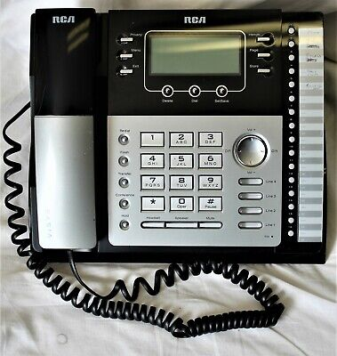 Rca 25424re1-c 4-line Expandable Corded Phone With Power Supply
