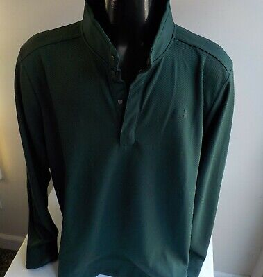 UNDER ARMOUR GOLF Cold Gear 1/4 Snap Pullover SZ XXL Green Poly