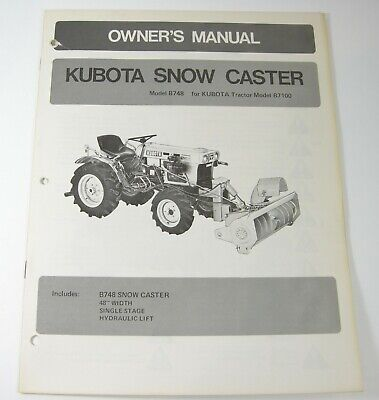 Kubota B748 Snow Caster For B7100 Tractor Owners Parts Manual Book Catalog Oem